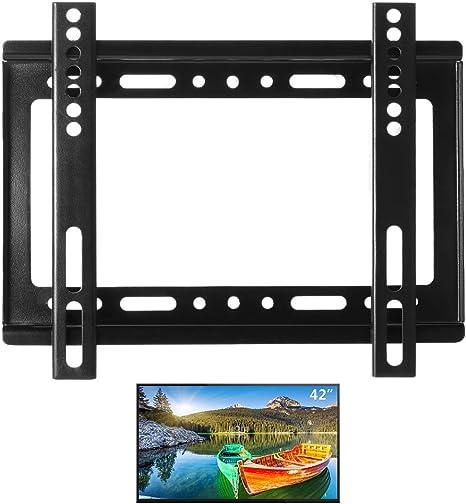 ALLCACA - Soporte de pared universal para televisores de 14 pulgadas (42 pulgadas, HDTV, montaje fijo de panel plano con capacidad máxima de carga para montaje LCD LED Plasma TV): Amazon.es: Informática