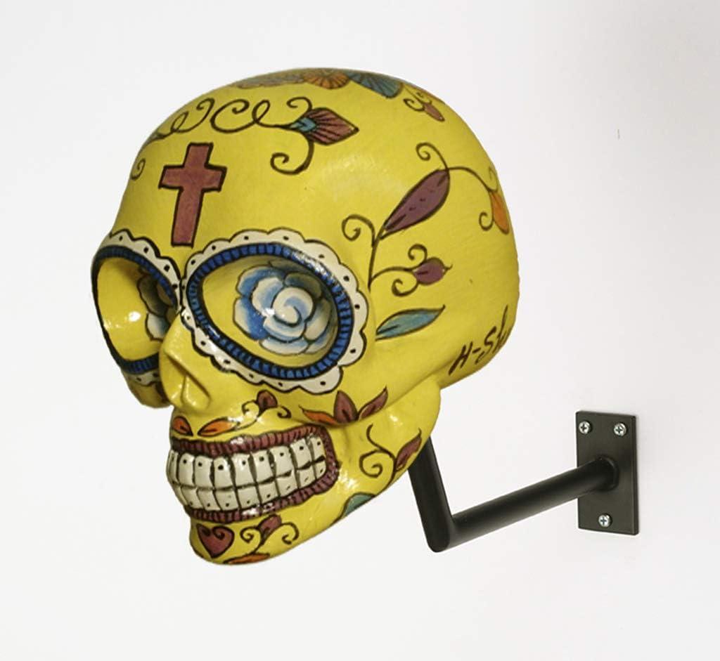 H Skull Helm Halter Im Totenkopf Design Mexican Yellow Auto