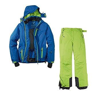 Crivit - Traje de esquí funcional para hombre (2 piezas, talla 50, chaqueta insulada), color azul/verde: Amazon.es: Deportes y aire libre