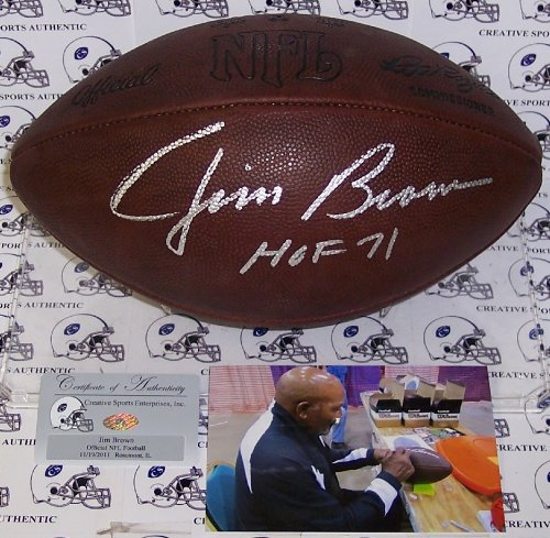 (Jim Brown Autographed Hand Signed Official NFL Football -)