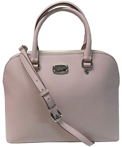 361043313f7d47 Amazon.com: Michael Kors Cindy Large Dome Saffiano Leather Satchel Blossom:  Shoes