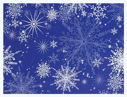 amazoncom snowy night snowflake christmas holiday gift wrap paper 16 foot roll health personal care - Christmas Wrap