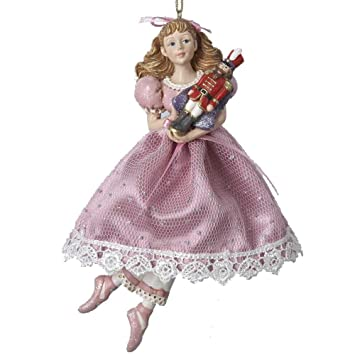 Amazon.com: Kurt Adler Clara Holding Nutcracker Christmas Ornament ...