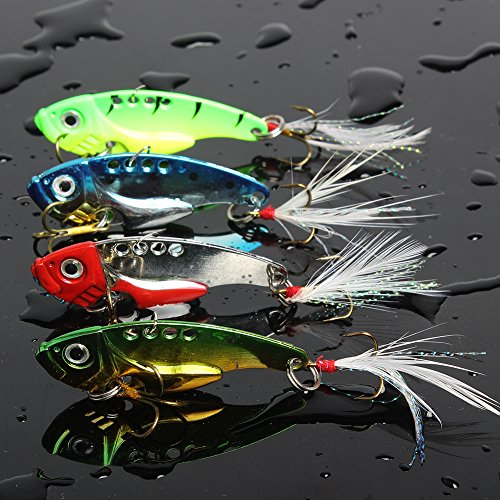 Sougayilang-Spinner-Spoon-Swimbait-Freshwater-Saltwater-Fishing-Tackle-Lures-and-Baits-Pack-of-4pcs