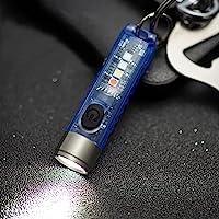 Mini Led Flashlight, Handheld Flashlight, 400 Lumens Outdoor EDC Rechargeable High Bright Multi-Functional Keychain…