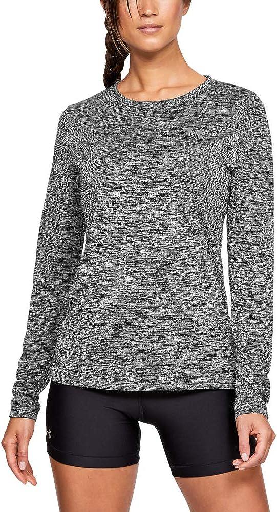 Under Armour Women's Tech Twist Crew Long Sleeve T-Shirt: Clothing