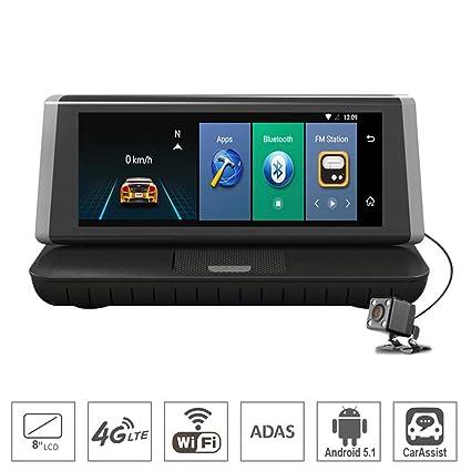 Amazoncom Shizhen 8 Inch Touch 4g Android Dash Cam Wifi Gps Full