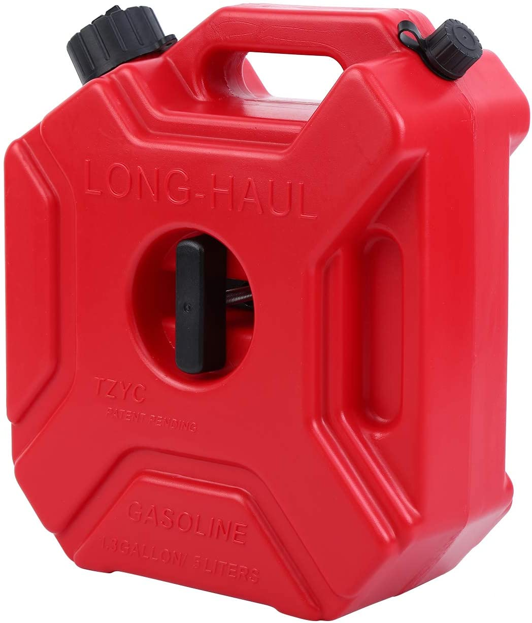 Samger 1.3 Gallon Gasoline Pack Fuel Container for Motorcycle Off Road ATV UTV Jeep