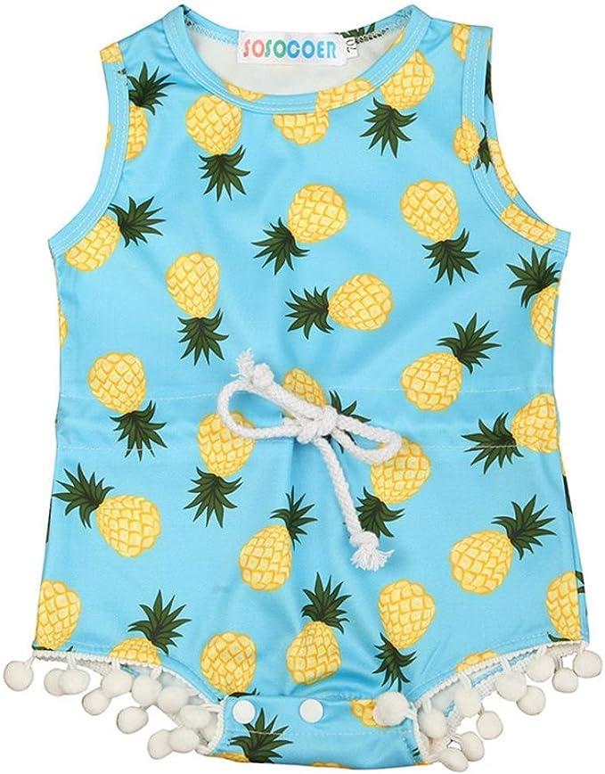 Newborn Baby Girl Pineapple Clothes Romper Jumpsuit Bodysuit Outfit Sunsuit