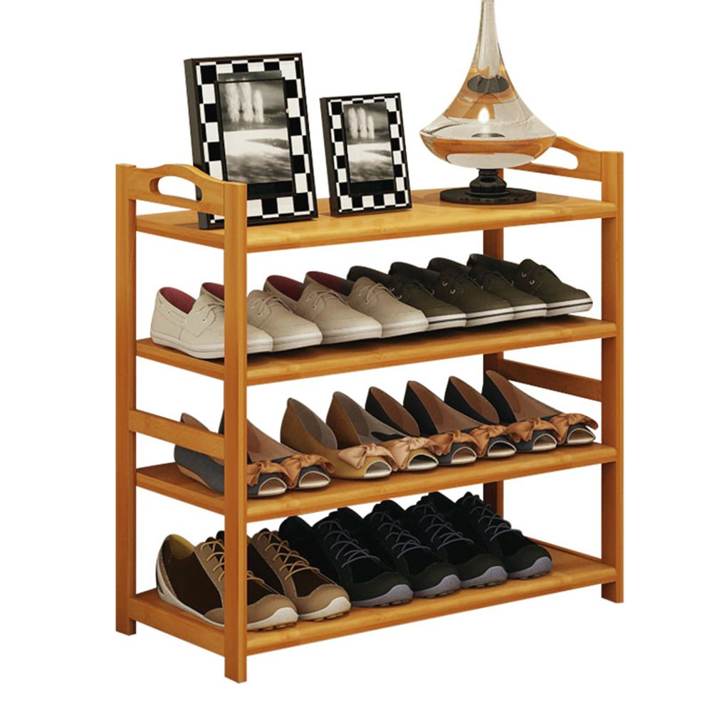 ZHIRONG Shoe Rack, 4 Tier Bamboo Shoe Rack Storage Organiser Entryway Shoe Shelf Made 100% Natural Bamboo 512668CM / 602668CM / 682668CM / 782668CM / 882668CM