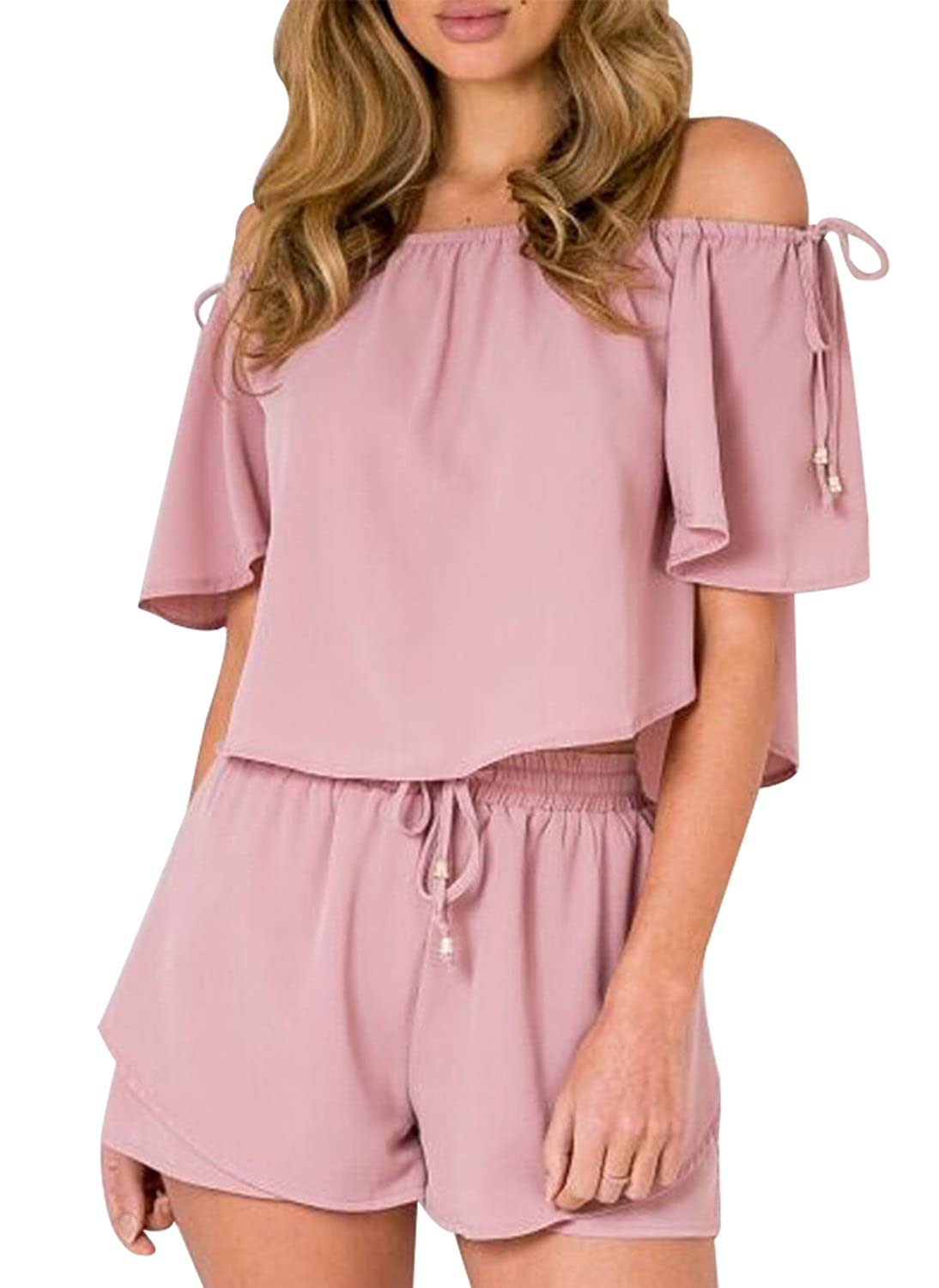 a3cbcda38a0 S US 2-4 M US 6 L US 8 XL US 10-12. The cute two pieces rompers is made of  high quality of cotton blend.Soft and breathable