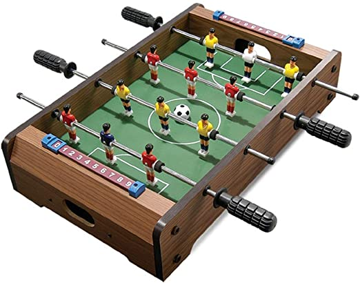 Mesa de juego combinada Mesa de futbolín Juego de fútbol Tabla W / balones de fútbol mesa