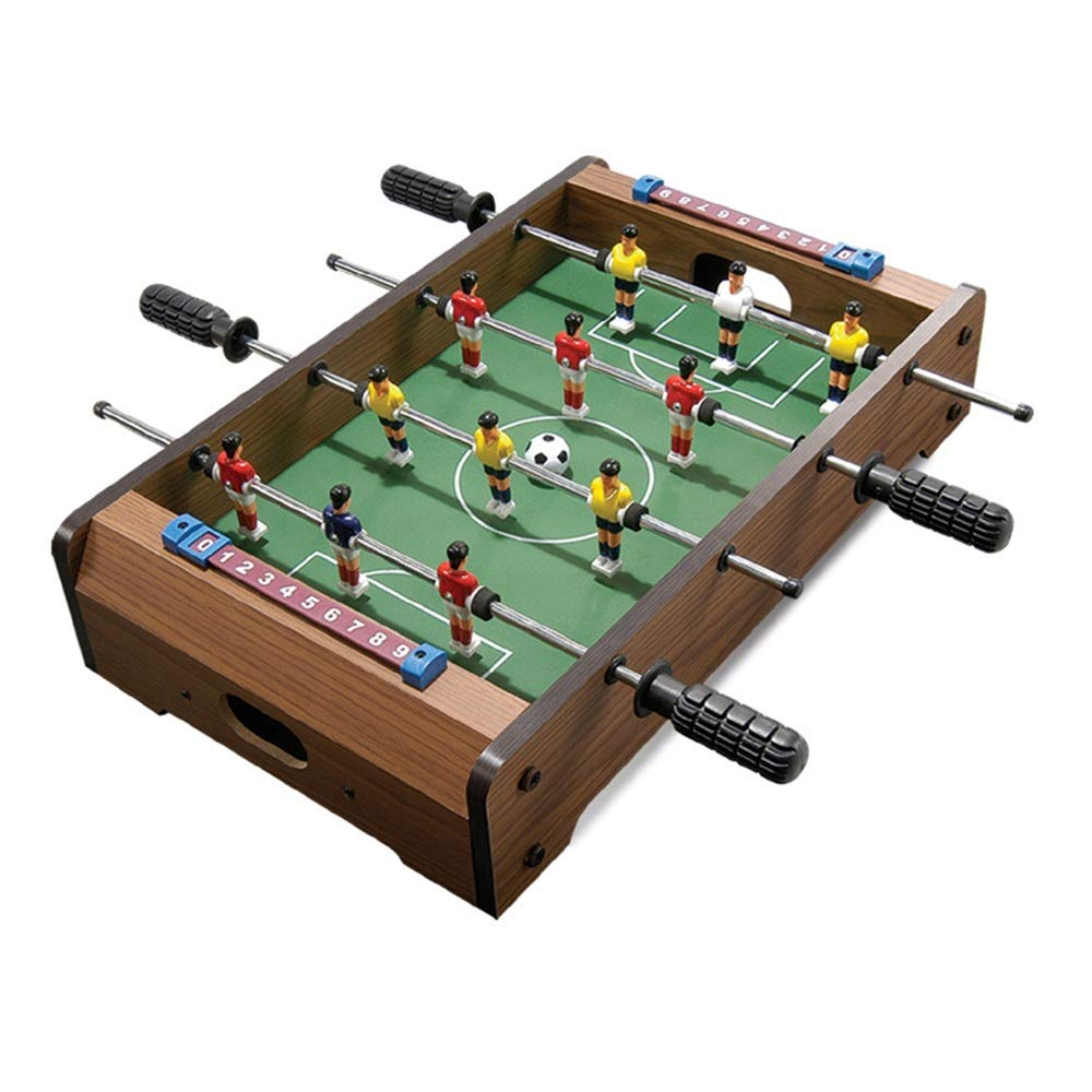 Foosball Table Soccer Game Table W/Footballs Indoor Table Soccer for Kids (Color : Color, Size : 34x21x8cm) by Forgiven