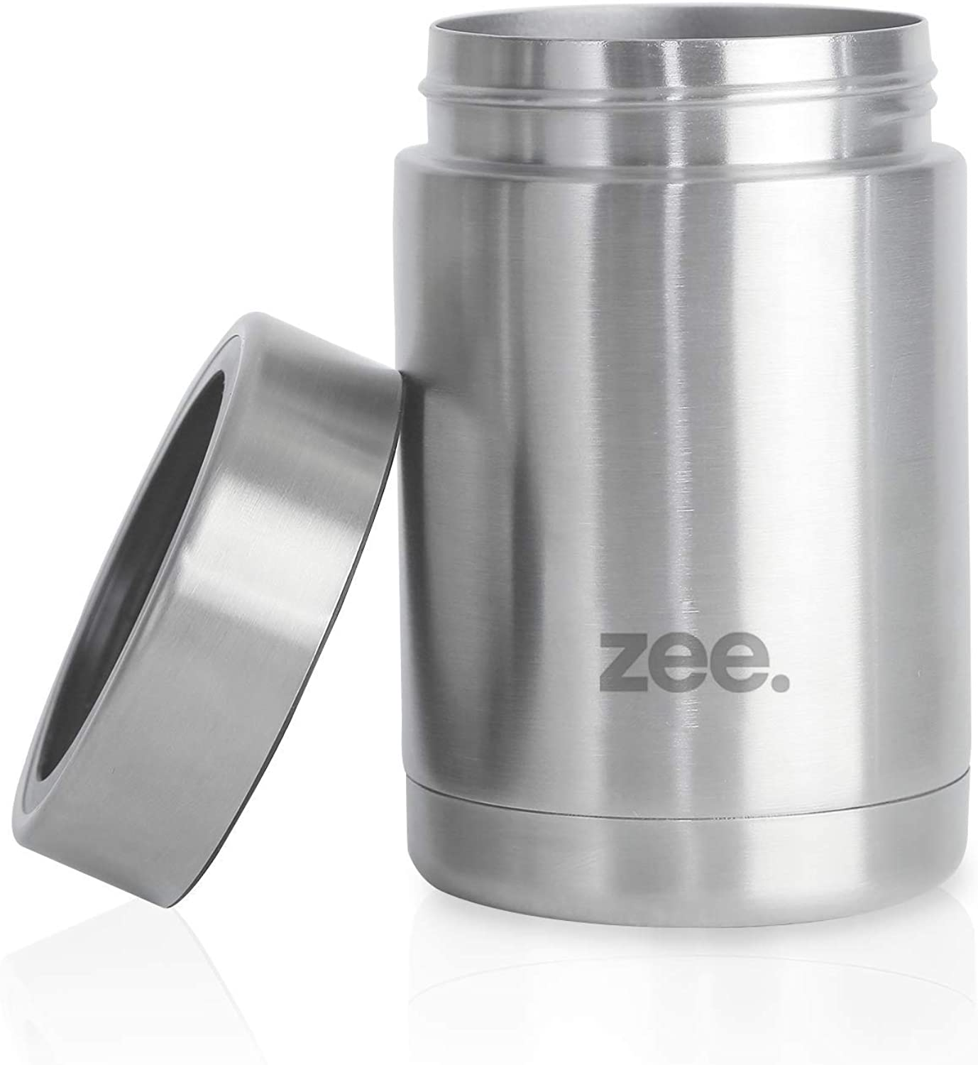 Zee. Can Cooler & Drink Insulator - Double-Walled Stainless Steel Insulated Can Koozie - Hot & Cold Beverages - Non-Slip, Anti-Splash, Sweat-Proof