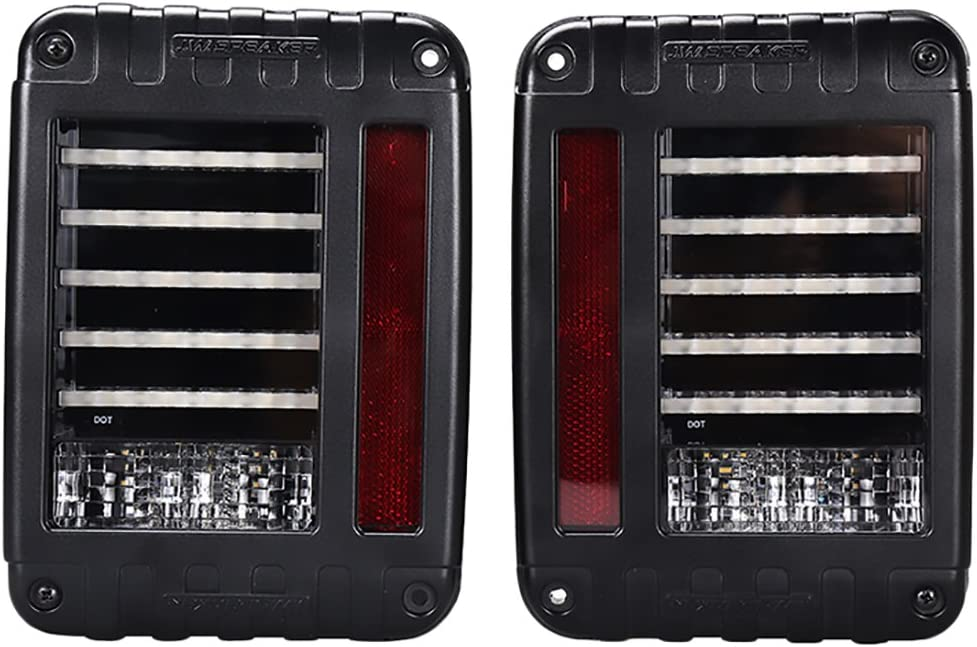 Toppower Tail Light Jeep EU 10W CREE LED Reverse Brake Taillights Replacement For 07-15 Jeep Wrangler JK Unlimited Robicon Sahara