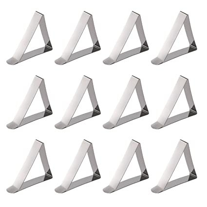 Table Cloth Clips,12PCS Adjustable Hard Stainless Steel Metal Table Covers  Clip Tablecloth Tablecover Tablecloths