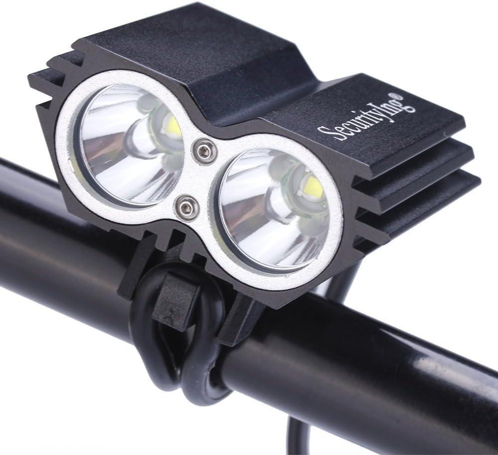 LED bicicleta Agua Densidad 1800/l/úmenes 4/modos Ciclismo delantero l/ámpara bicicleta faros delanteros para Mountain Road ni/ños y ciudad bicicleta/ /Cable USB incluido SecurityIng USB Faro Luz
