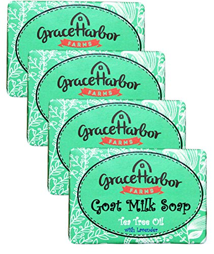Goat Milk Soap (4-Four Ounce Bars) Tea Tree Oil with Lavender ()