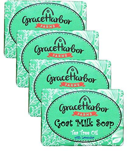Goat Milk Soap (4-Four Ounce Bars) Tea Tree Oil with Lavender