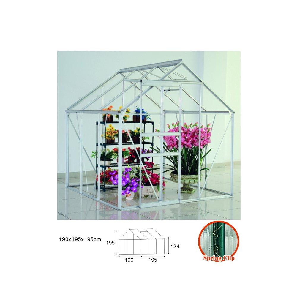 6 * 1, 8 m Aluminium Polycarbonat Clipless-Gewächshaus mit ...