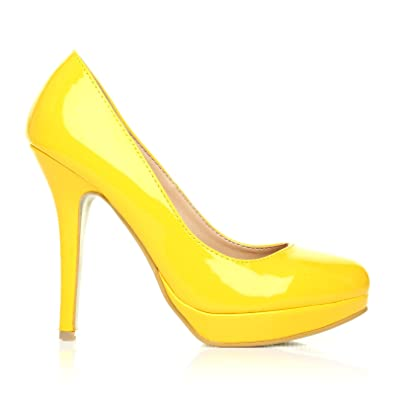 ShuWish UK  Love Damen Pumps gelb Yellow Suede