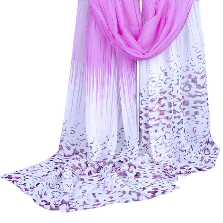 Anboo Women Popular Long Leopard Shade Shawl Scarf Wrap Chiffon Scarves