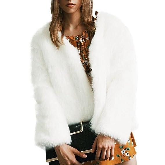ESHOO Femmes Parka Fausse Fourrure Manteau Veste Chaud Hiver  Amazon.fr   Vêtements et accessoires f8e0fa2fa8ab