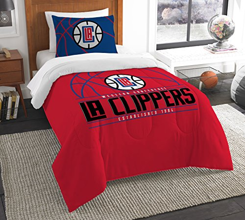 The Northwest Company Officially Licensed NBA Los Angeles Clippers Reverse Slam Twin Comforter and Sham ()