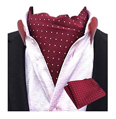 Amazon.com: mohslee hombre corbata corbata Ascot Self ...