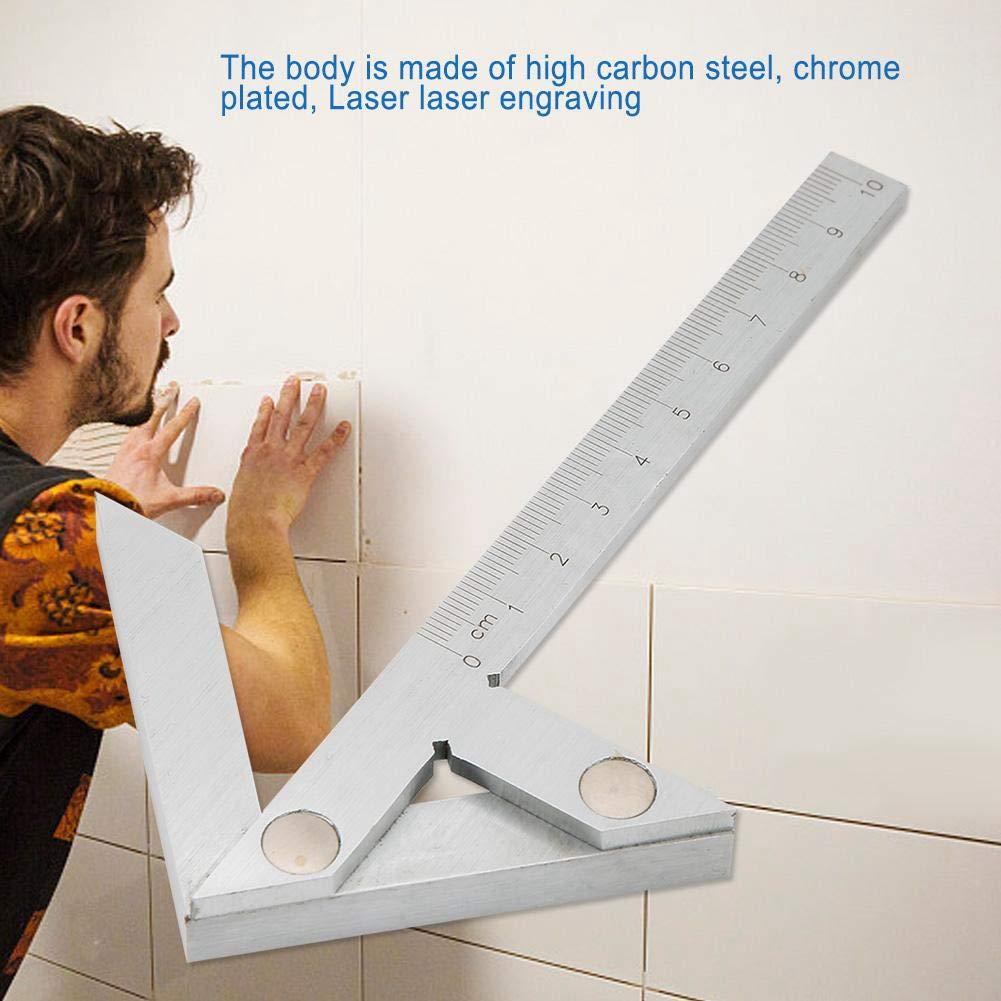 100x70 mm Calibrador de centro Barra redonda Marcador de centros para medir con precisi/ón los /ángulos Centrado Calibre cuadrado