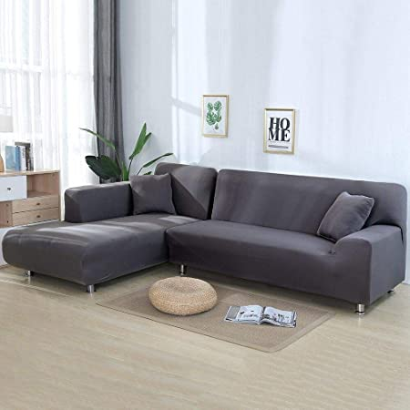 xuemml Fundas de 2 Piezas para sofá de Esquina Sofá en Forma ...