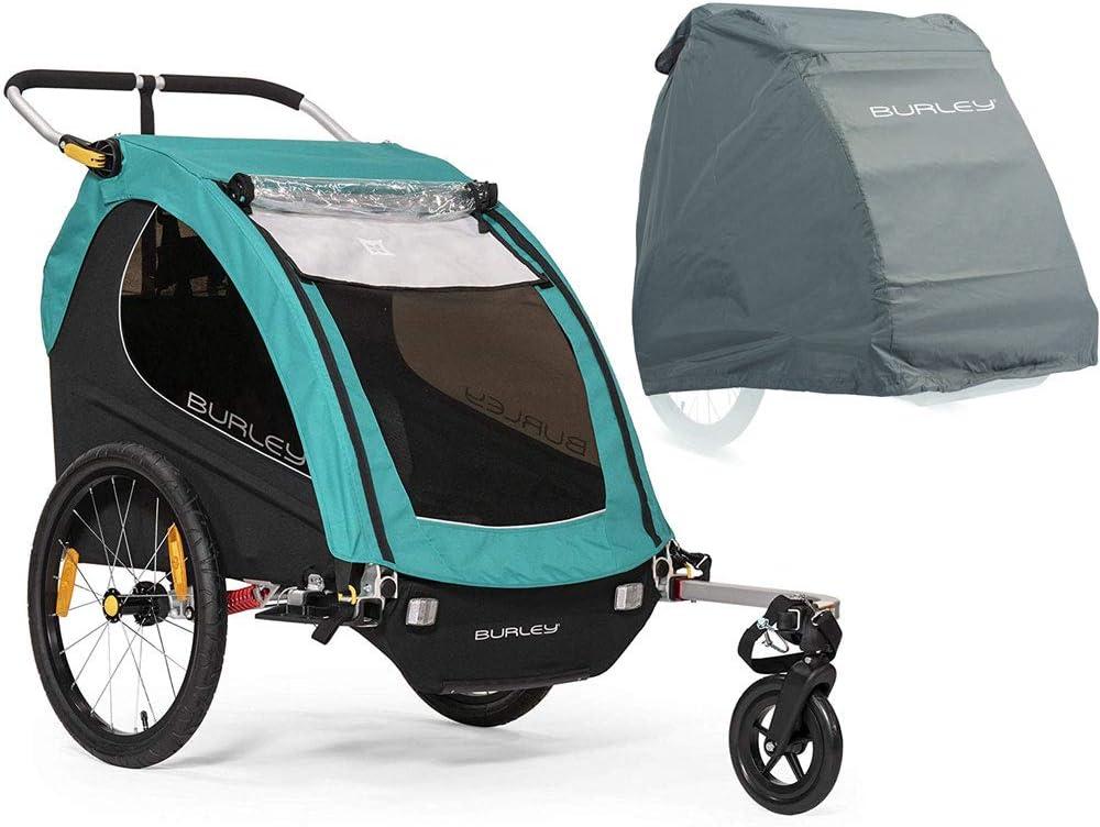 Burley Encore X バイクトレーラー - ターコイズ 収納カバー付き