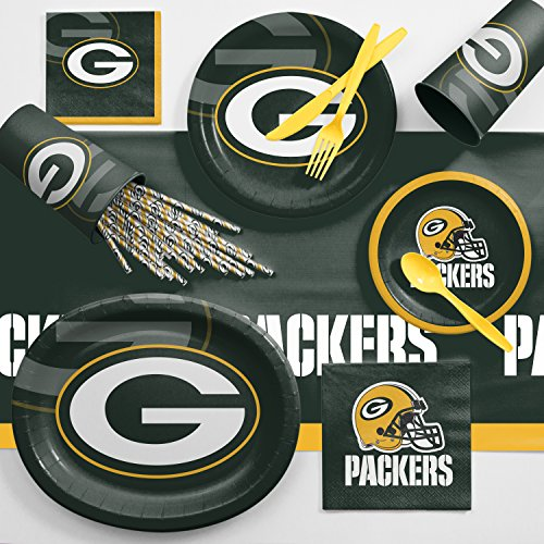 Creative Converting Green Bay Packers Ultimate Fan Party Supplies Kit ()