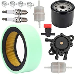 Kaymon 25 050 22-S Air Filter 1205001-S Oil Filter 393 16-S Fuel Pump for Kohler CH18-CH25 CV18-CV25 CH730-CH740 CV675-CV740 Command 18 Thru 25 HP Engine Lawn Mower