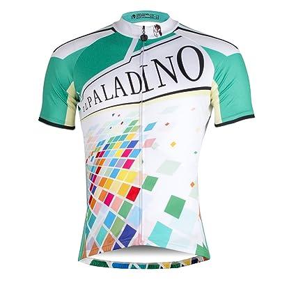 Ilpaladino Men s Cycling Shirts Short Sleeve Internet Pattern Bike Jerseys  Size XXS f50ca6958