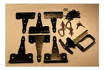 Shed Door Hardware Kit 5u0026quot; Colonial Hinges, T Handles, Barrel Bolts,