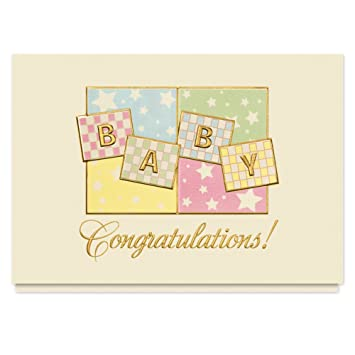Amazon.com: Bebé Congrats tarjeta de felicitación – 25 ...