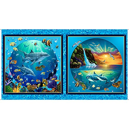 - Under The Sea Picture Patch - 24-inch Panel, Sold by The Panel - Artworks Digital Fabric