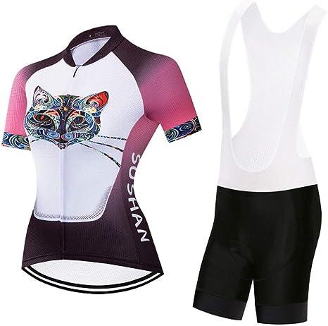 HAOHOAWU Maillot de Ciclismo Pro para Mujer, Ropa de montaña, Top ...