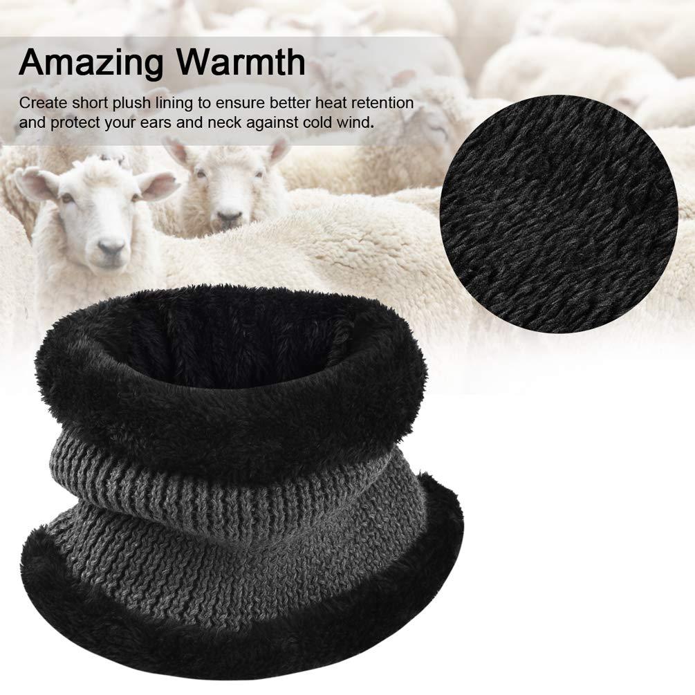 VBG VBIGER 2-Pieces Winter Knit Hat Scarf Set Warm Thick Knit Caps with Visor for Men Women