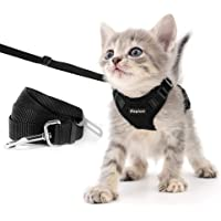 Eagloo Cat Harness and Leash Set Escape Proof Small Cats Walking Harnesses with Leash for Car Safety Belt Adjustable Vest Soft Mesh Reflective Strips Metal Clip Comfortable for Kitten Puppy, XS