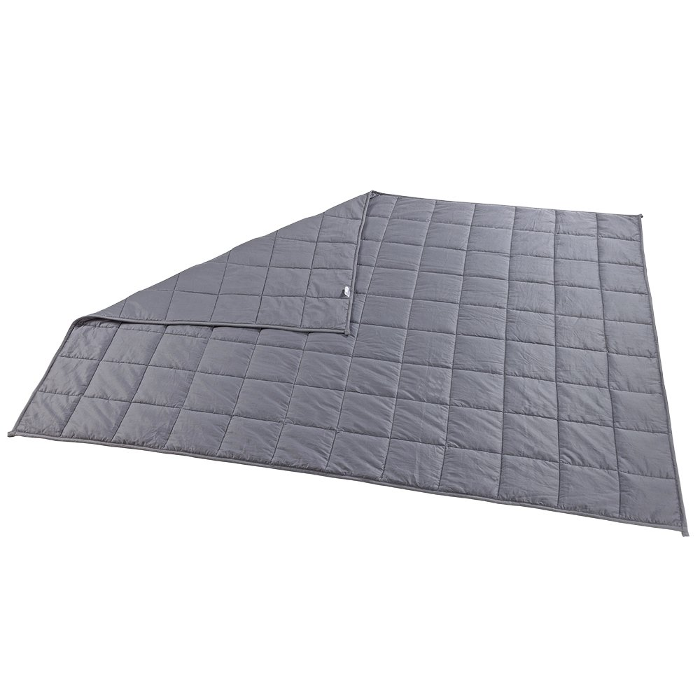Witlucky Weighted Blanket for Adults, Stress and Anxiety Relief, Improve Sleep Quality, Great for ADHD, Autism, OCD and Sensory Processing Disorder (Grey, 60x80 inch,17 lbs) by Witlucky (Image #5)