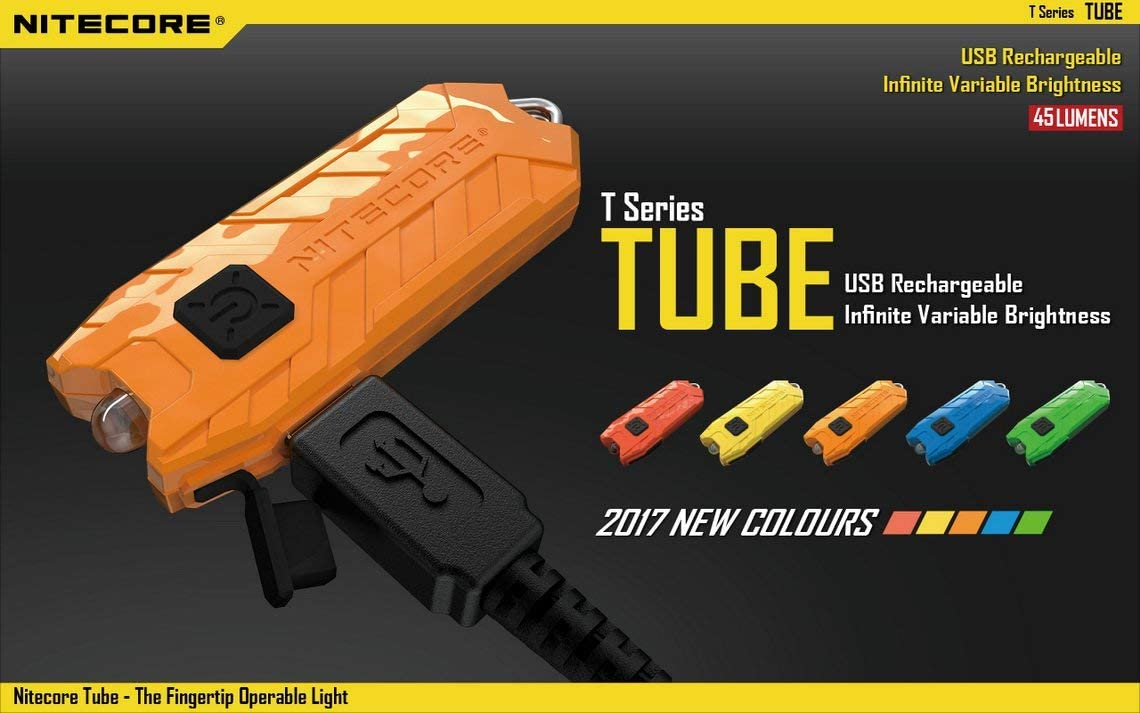 Nitecore Tube porte-cl/és lumi/ère T Series 45 Lumen Multi Color Lampe de poche