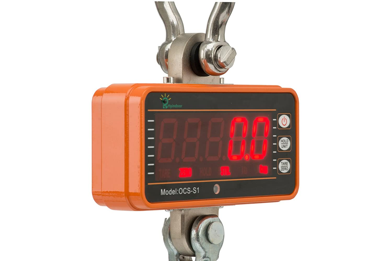Hyindoor 500KG Báscula Electrónica Digital Portátil Crane Escala Industrial con Gancho Resistente: Amazon.es: Bricolaje y herramientas