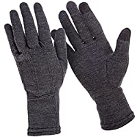 MERIWOOL Merino Wool Unisex Glove Liners for use with Touch Screens in Charcoal Grey – Choose Your Size