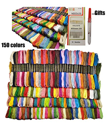 Embroidery Floss Sets (levylisa -150 Set Embroidery Floss, Cross Stitch Floss, Cross Stitch Thread, Skeins, Embroidery Thread Gifts for Crafters, Floss Bundles, Entire Floss Line, Felt and Floss, Craft Floss)