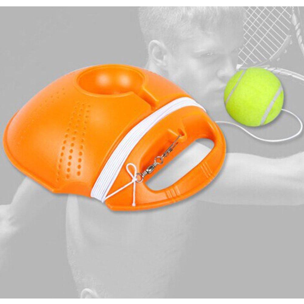 GeKLok - Set de Entrenamiento de Tenis, Herramienta de Entrenamiento de Tenis para Ejercicios, Pelota de Tenis de Rebote con Mecanismo de Estribo para ...