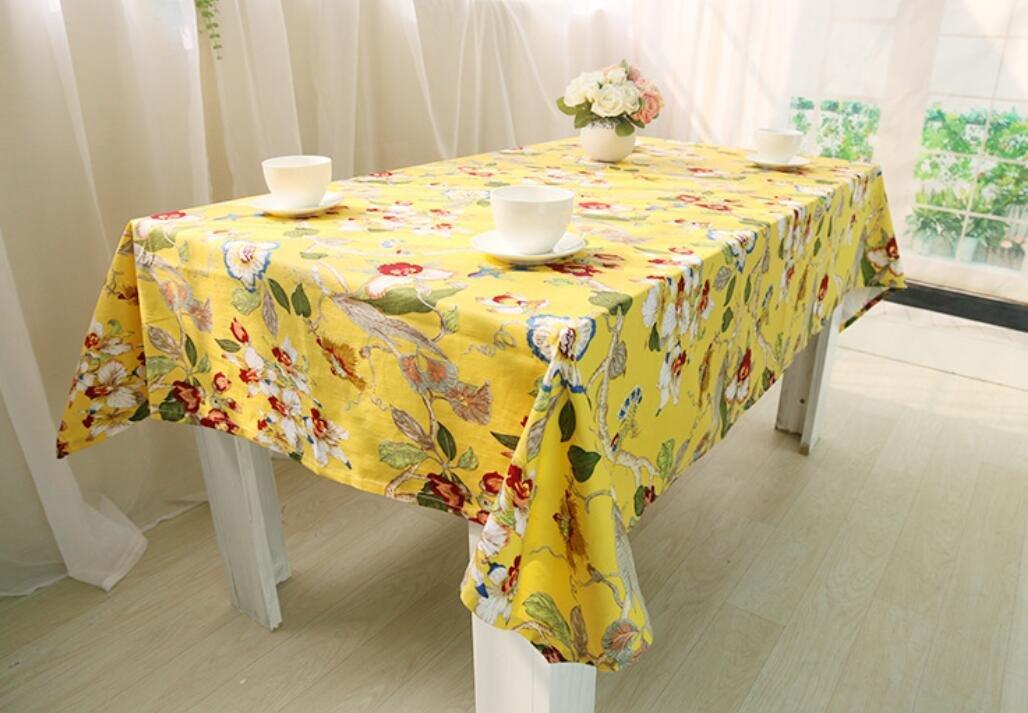 cómodo GAOYUHUA GYH Algodón Europea clásica de mesa de tela tela tela de tela manteles mantel restaurante de la vida de decoración de escritorio cubierta de tela,yellow, 140160cm  exclusivo