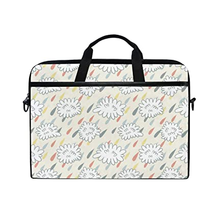 37210e9fb3f2 Amazon.com: Mischievous White CloudsHandbag Laptop Briefcase, Multi ...