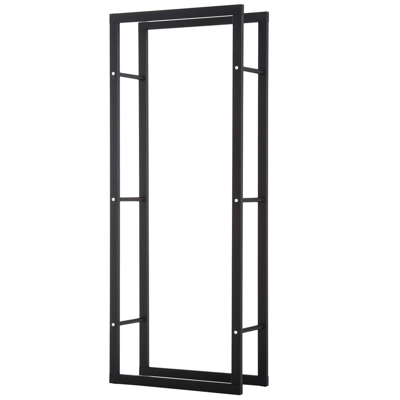 homcom Scaffale Porta Legna Legnaia Verticale Supporto per Legna Portata 100kg Metallo 60 × 25 × 150cm Aosom Italy